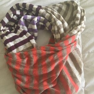 J Crew Multi Color Infinity Scarf